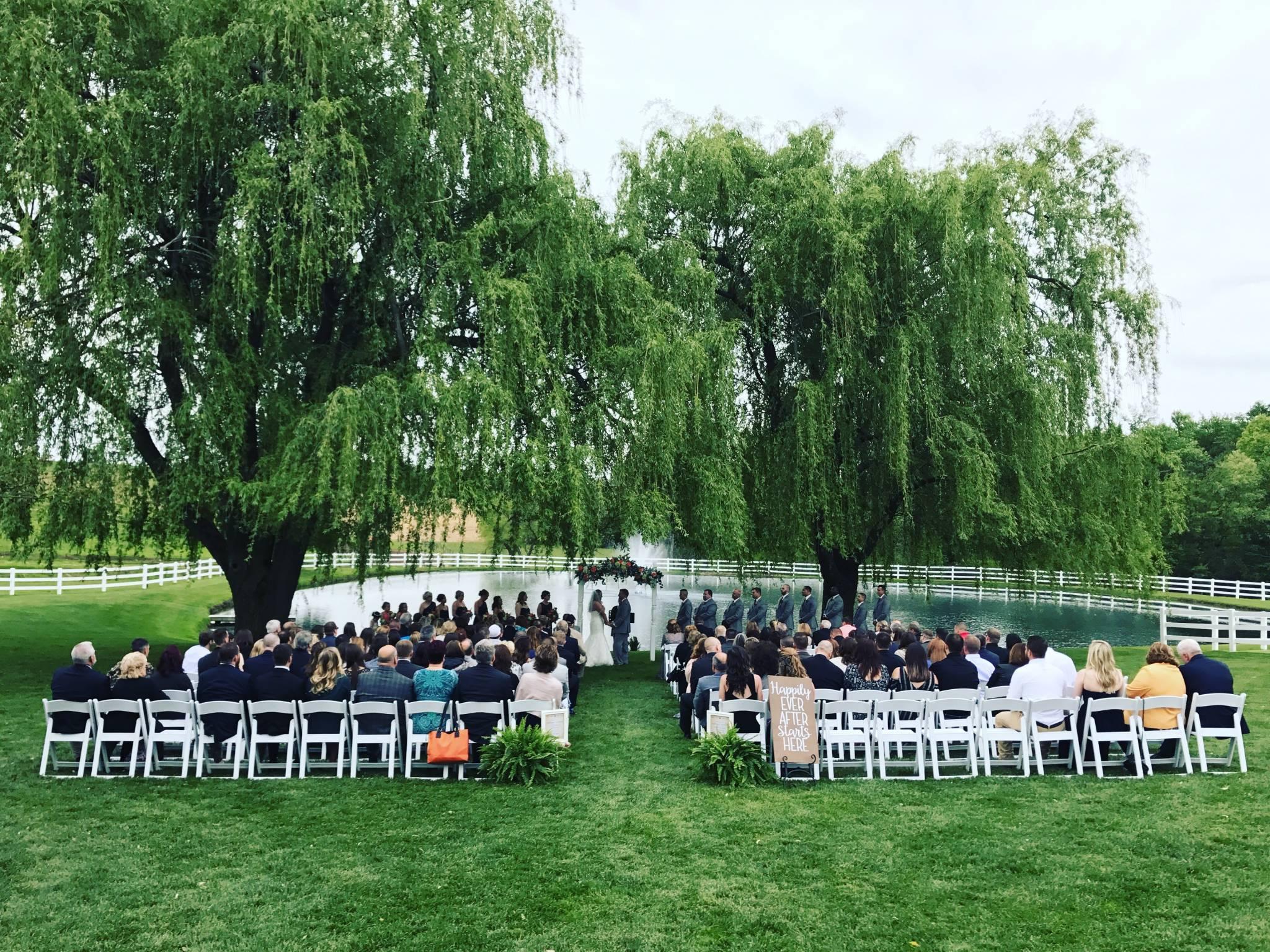 Kara Andrews Wedding Reception Pond View Farm Friendly