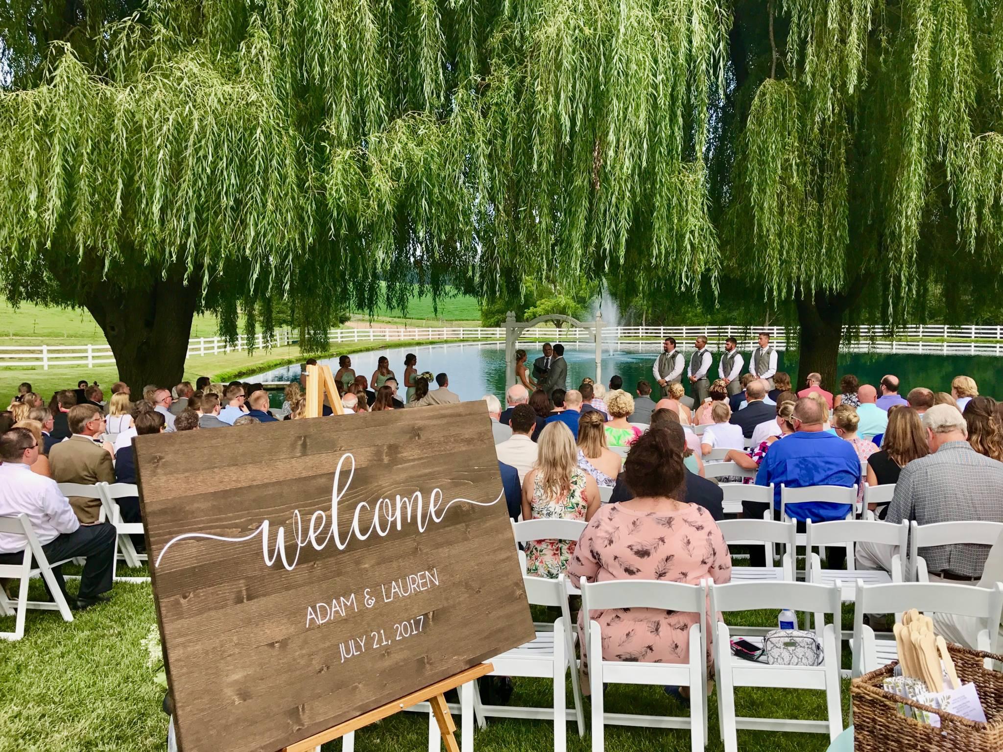 Lauren Adam S Wedding Reception Pond View Farm
